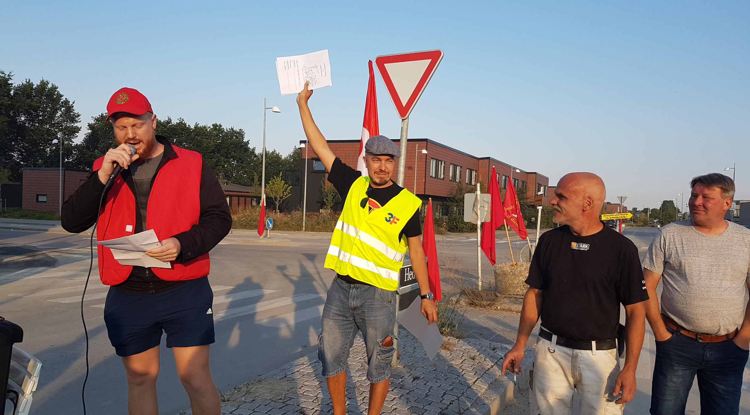 Victory at the building site in Hedehusene